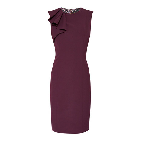 Suriad Frilled Pencil Dress, ${color}