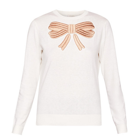 Yasmyn Embroidered Bow Knit, ${color}
