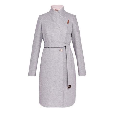 Khera Wool-Blend Wrap Coat, ${color}