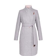 Khera Wool-Blend Wrap Coat