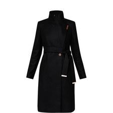Kikiie Wool-Blend Wrap Coat