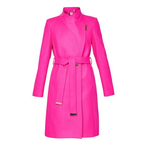 Kikiie Wool-Blend Wrap Coat, ${color}