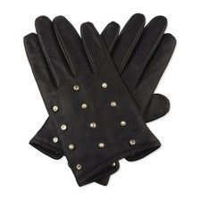 Pearl Scattered Leather Gloves