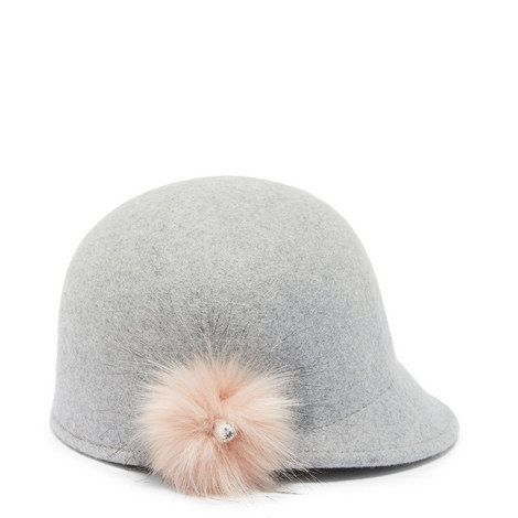 Adabel Pom Pom Wool Cloche Hat, ${color}