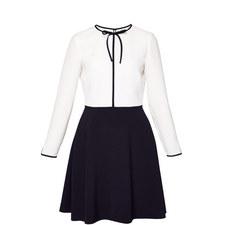 Loozy Neck Tie A-Line Dress