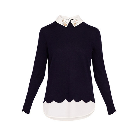 Suzaine Embellished Collar Knit, ${color}