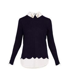 Suzaine Embellished Collar Knit