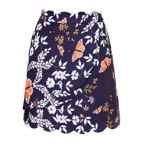 Kyoto Scallop Mini Skirt, ${color}