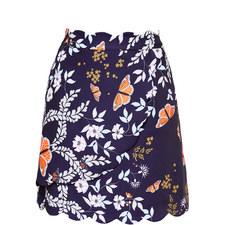 Kyoto Scallop Mini Skirt