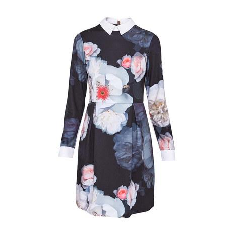 Kaleesa Chelsea Grey Shirt Dress, ${color}