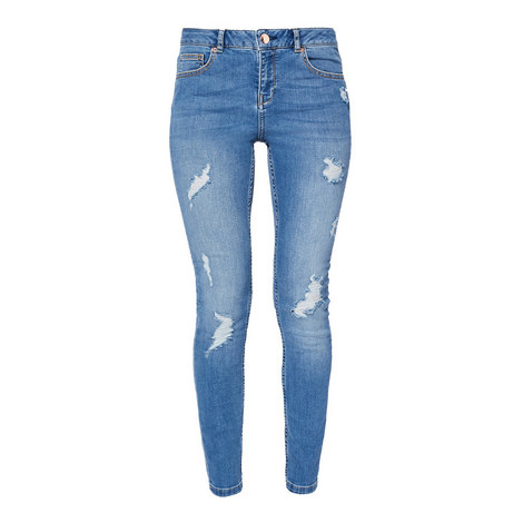 Kimle Distressed Skinny Jeans, ${color}