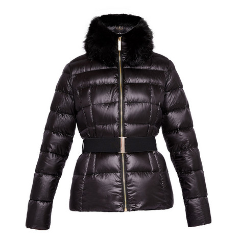 Junnie Faux Fur Quilted Jacket, ${color}
