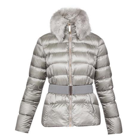 Junnie Faux Fur Quilted Jacket, ${color}