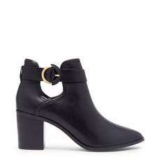 Sybell Buckled Leather Ankle Boots