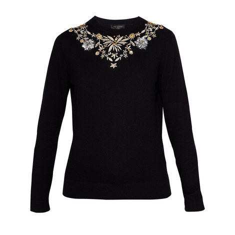Embellished cashmere-blend jumper, ${color}