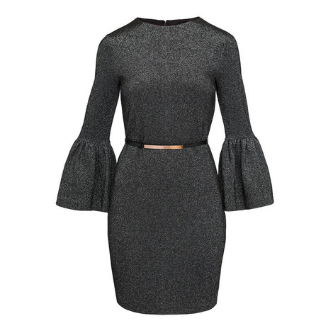 Hanneh Bell Sleeve Bodycon, ${color}