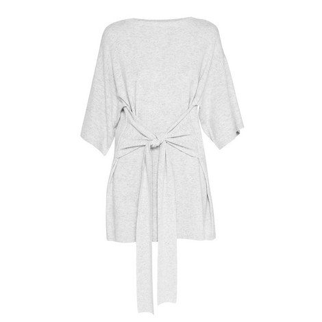 Olympy Tie-Front Knit Tunic, ${color}