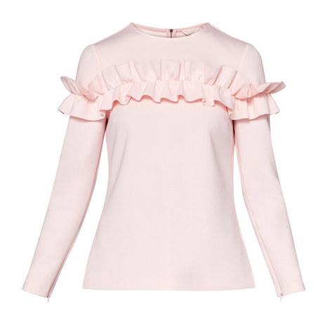 Aiya Ruffle Long Sleeved Top, ${color}