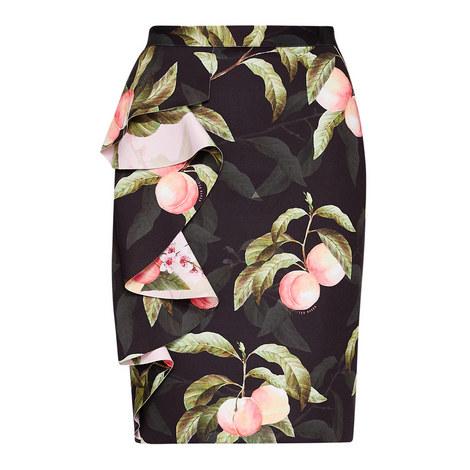 Blayyke Peach Blossom Ruffle Pencil Skirt, ${color}