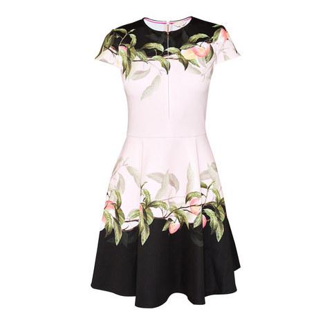 Antana Peach Blossom Skater Dress, ${color}