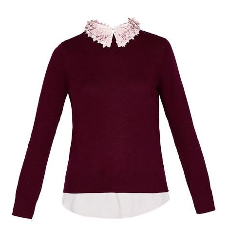 Nansea Floral Collar Knit, ${color}