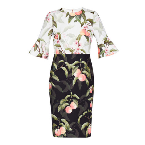 Areea Peach Blossom Pencil Dress, ${color}