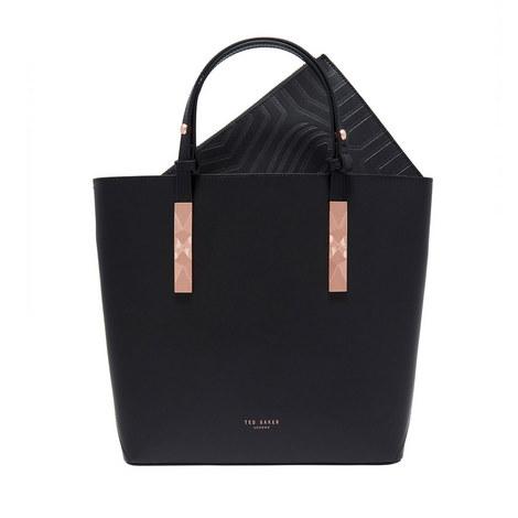 Jaceyy Embossed Detail Leather Shopper Bag, ${color}