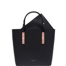 Jaceyy Embossed Detail Leather Shopper Bag