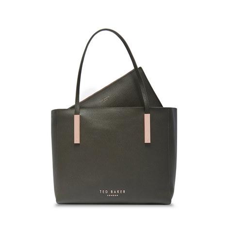 Sarahh Statement Letters Leather Shopper Bag, ${color}