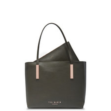 Sarahh Statement Letters Leather Shopper Bag