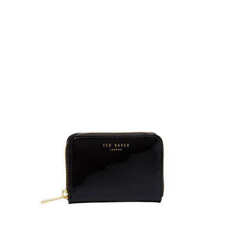 Omarion Patent Leather Mini Zip Purse, ${color}