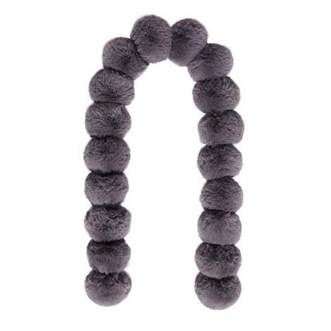 Tizzy Faux Fur Pom-Pom Scarf, ${color}