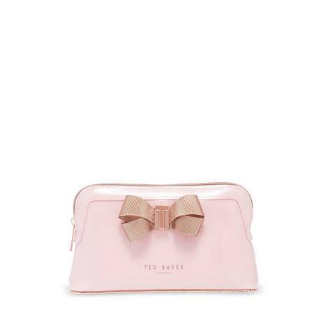 Lezlie Bow Detail Make Up Bag, ${color}