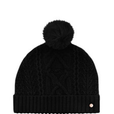 Kyliee Cable Knit Bobble Hat