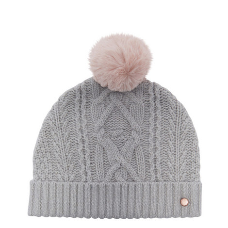 d6189fb5680 Kyliee Cable Knit Bobble Hat