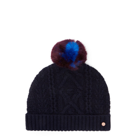 Kyliee Cable Knit Bobble Hat e579b45ffb8b