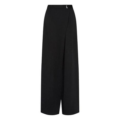 Yasin Wrap Wide Leg Trousers, ${color}
