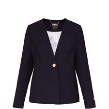 Cerisa Collarless Tailored Jacket