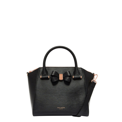 Charmea Bow Detail Tote Bag Small, ${color}