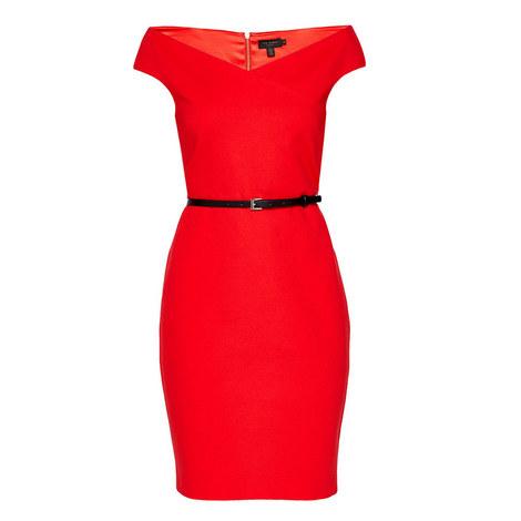 Bardot Pencil Dress, ${color}