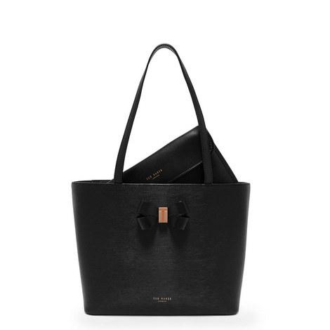 Cattas Leather Shopper Small, ${color}