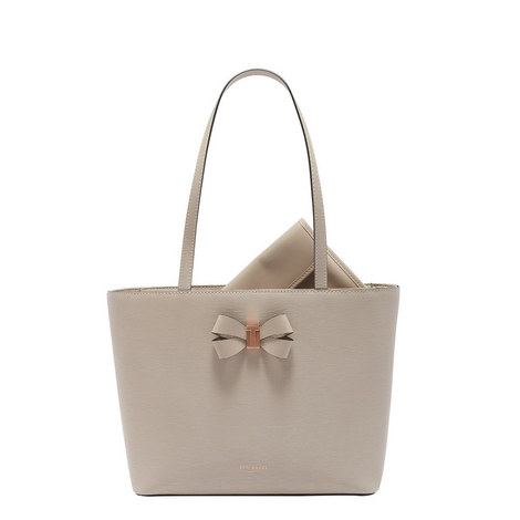 Cattas Leather Shopper Small, ${color}