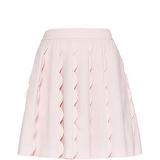 Poppay Scallop Detail Mini Skirt