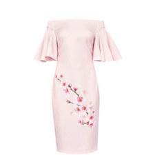 Calinda Soft Blossom Bardot Dress