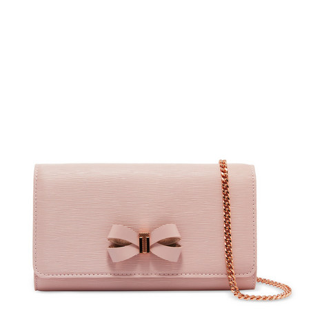 Melisia Leather Cross Body Bow Purse, ${color}