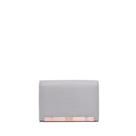 Valenta Metallic Bar Mini Leather Purse, ${color}