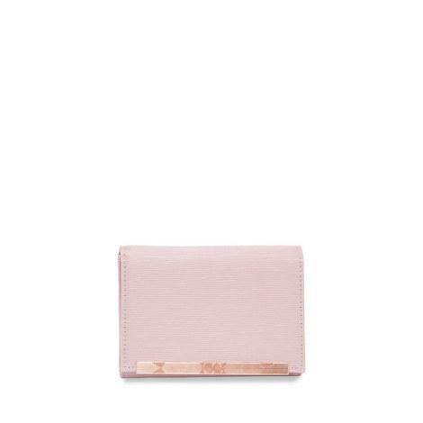 Valenta Metallic Bar Mini Leather Purse, ${color}