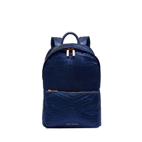 Akija Quilted Bow Nylon Backpack, ${color}