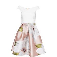Valtia Chatsworth Jacquard Dress