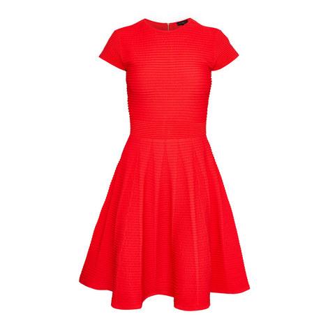 Ribbed knit skater dress, ${color}